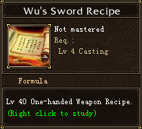 Wu's Sword Recipe