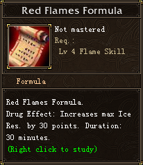 Red Flames Formula