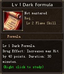 Lv 1 Dark Formula