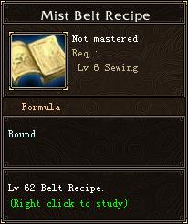 Mist Belt Recipe