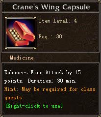 Crane's Wing Capsule