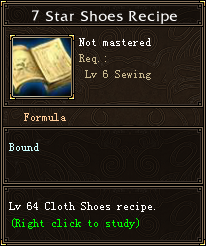 7 Star Shoes Recipe