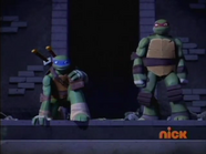 Raph pushed Donnie