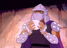 Shredder holding orb