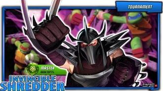 Master Shredder in Master TOP Rank 1% PVP. Teenage Mutant Ninja Turtles Legends Android iOS gameplay