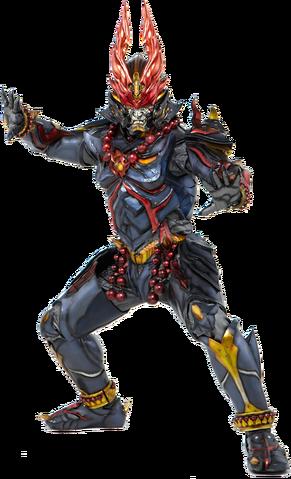 File:Shougeki Gouraigan played bySouma Yamamoto, known as Taiga Kamen Rider Saga starring in the upcoming tokusatsu series Shougeki Gouraigan.png