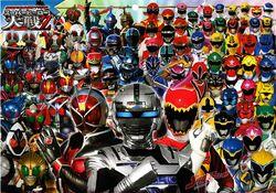 Super Hero Taisen Z heroes