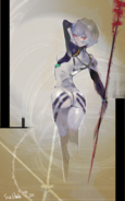 Ishida's illustration for Rei Ayanami's birthday from Evangelion