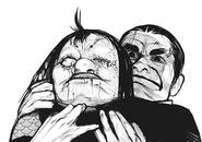 Kuroiwa strangles Shikorae
