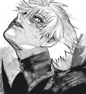 Sasaki's hair whitens