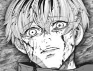 Uta mimics the physical appearance of Haise Sasaki