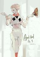 Ishida's illustration of Hisoka from Hunter x Hunter