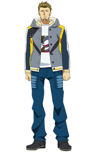 Banjou anime design front view