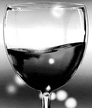 Glass of blood wine