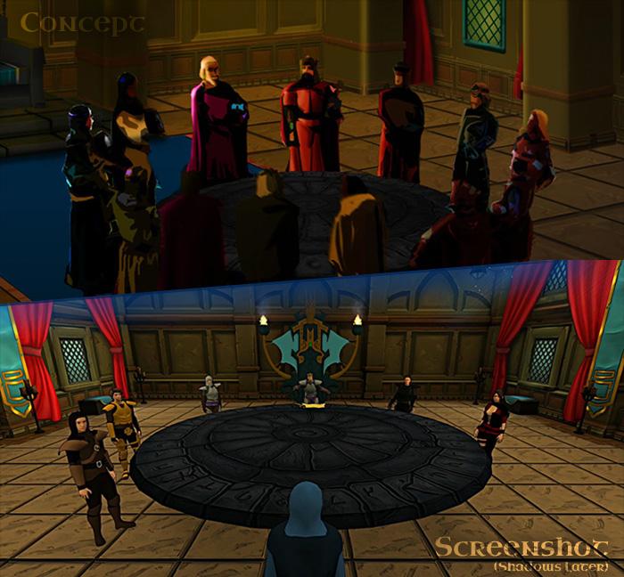 Concept Art vs Pre-Alpha Screenshot