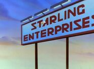 The sign of Starling Enterprise