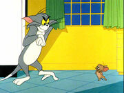 Haunted Mouse - Tom approaches Jerry