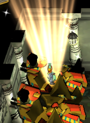 Bust of Hathor broken