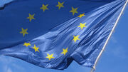 European flag in the wind