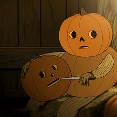 Carving a pumpkin mask
