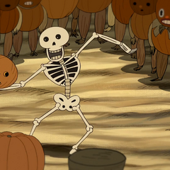 Larry the skele-pumpkin