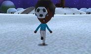 Mii using soccer ball