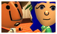 Two Miis taking a picture of themselves