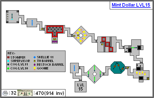 Mint Maps - Dollar - LVL15