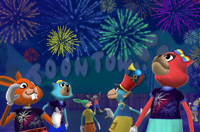 Summer Fireworks Signal Toon Victory