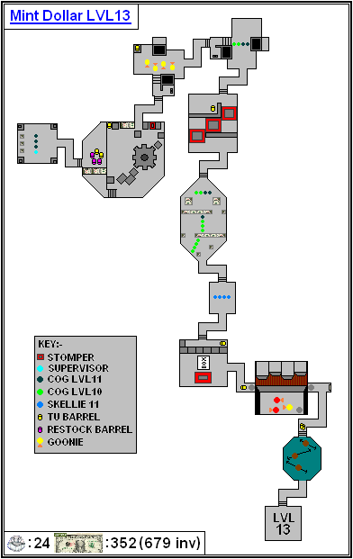 Mint Maps - Dollar - LVL13