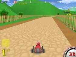 Rustic raceway track