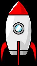 Purzen-A-cartoon-moon-rocket