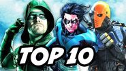Arrow 5x19 TOP 10 and Teen Titans Series Deathstroke Explained