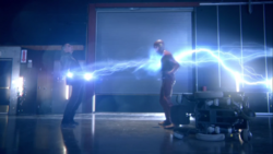 Barry Allen connects to his powers and defeats Blackout