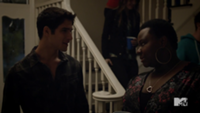 Teen Wolf Season 3 Episode 2 Tyler Posey Shantal Rhodes Scott McCall and Danielle