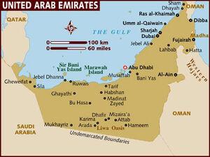 United Arab Emirates map 001