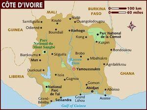 Ivory Coast map 001
