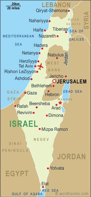 Israel map 001