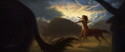 Centaur hunter by manweri-d63v8na