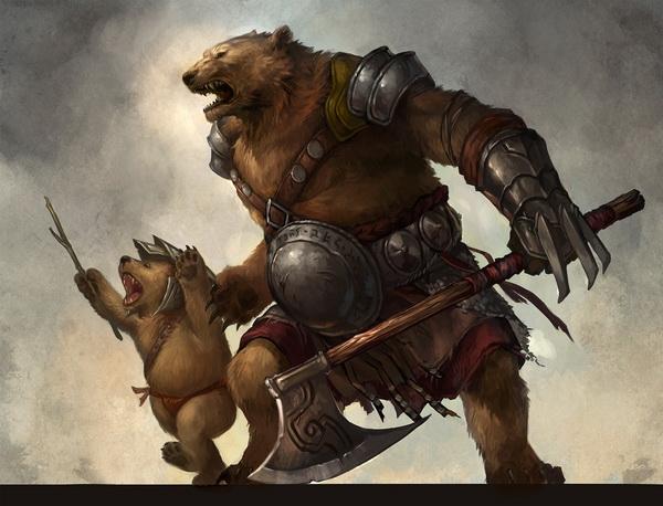 File:Ursine warrior and cub by sandara-d4wn6ou.jpg