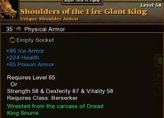 Shoulders Fire Giant King