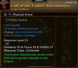 Coif of Ember Adventurers