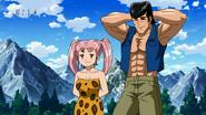Jirou forms a combo with Setsuno