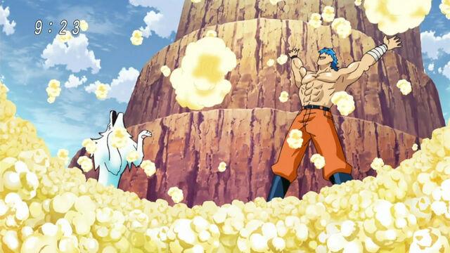 Archivo:Toriko and Terry making the BB Corn into popcorn.jpg