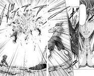 Toriko destroying GT Robo with Kugi Punch