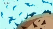 Toriko's burnt skin regenerates