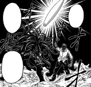 Ichiryuu about to finish Midora with Ougi Ippon Bashi