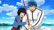Rin with Toriko fishing