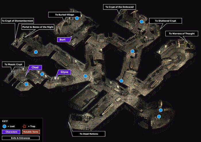 Weeping stone catacombs map