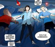 Koon, Rak y Viole descansando